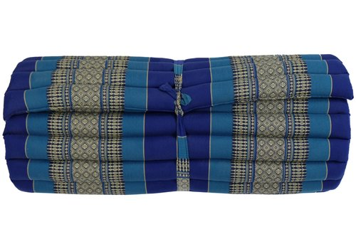 Fine Asianliving Matelas Thaï Enroulable en Coton et Kapok - 78x190cm - Azuré