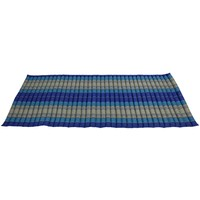Thaise Mat Oprolbaar Matras 190x78x4.5cm Oceaan Blauw