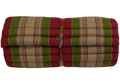 Fine Asianliving Matelas Thaï Enroulable en Coton et Kapok - 78x190cm - Rouge Vert