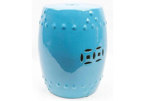 Fine Asianliving Ceramic Garden Stool Porcelain Asian Style Blue