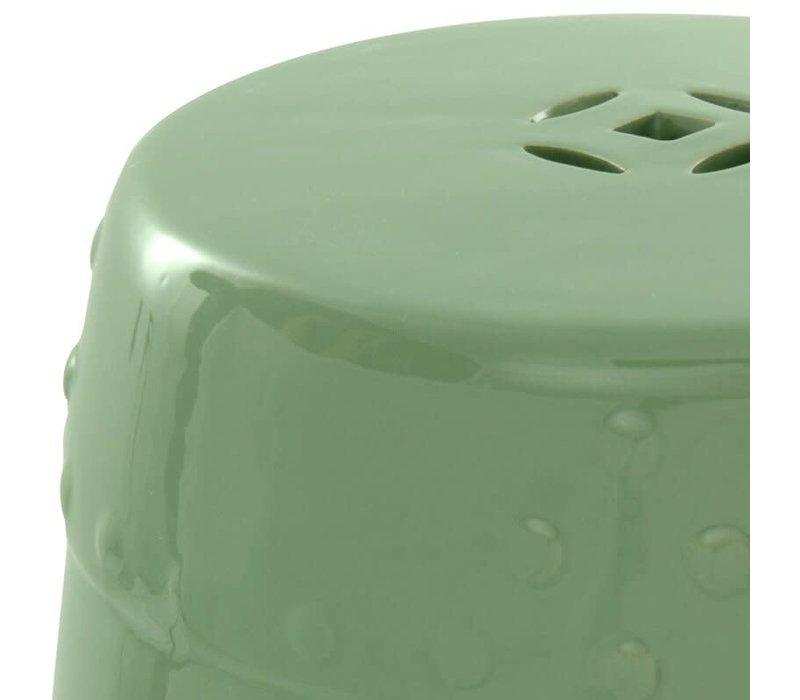 Chinese Kruk van Keramiek Porselein Bijzettafel D33xH45cm Apple Groen