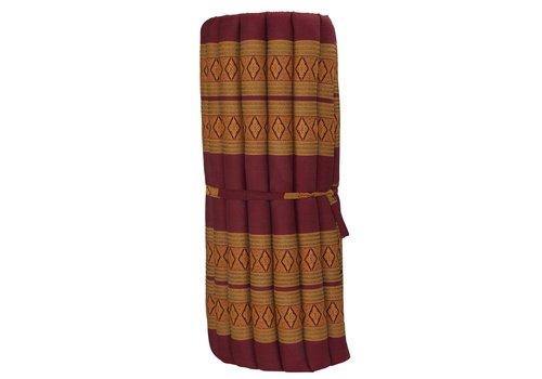 Fine Asianliving Thai Mat Rollable Mattress 190x78x4.5cm Mat Cushion Thai Orange