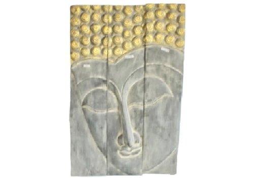 Fine Asianliving Thaise Buddha Paneel Handgemaakt Van Stevige Boomstam L120xH180cm