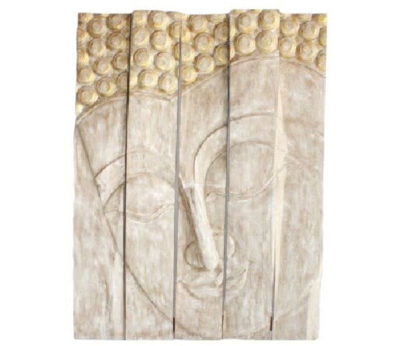 Thaise Buddha Paneel Handgemaakt Van Stevige Boomstam L150xH200cm