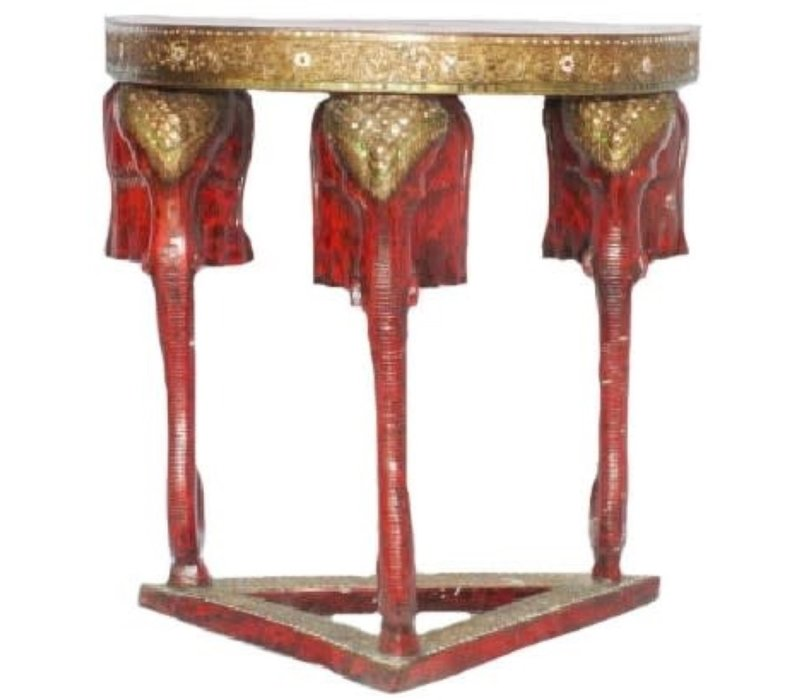 Thai Elephant Table Handmade from Solid Tree Trunk W80xD60xH100cm