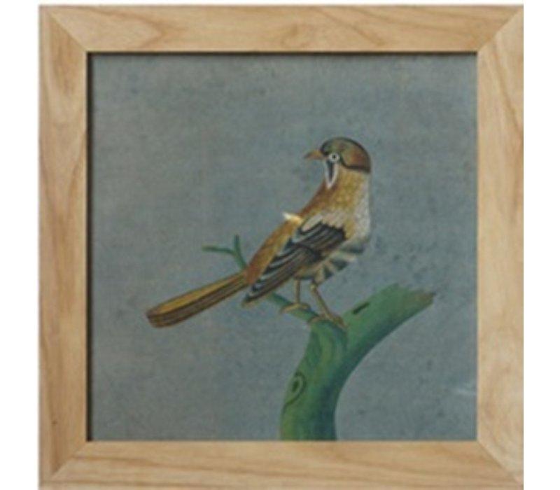 Tableau sur Toile Décoration Murale Chinois Encadré des oiseaux sur la branche L42xH42cm