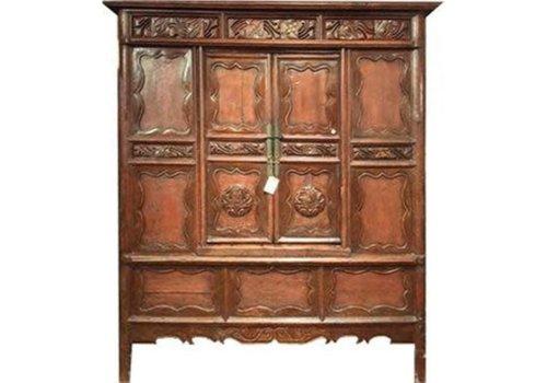 Fine Asianliving Armoire Chinoise Antique Sculpté àla Main
