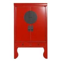 Chinesischer Hochzeitsschrank Glücklich Rot B100xT55xH190cm