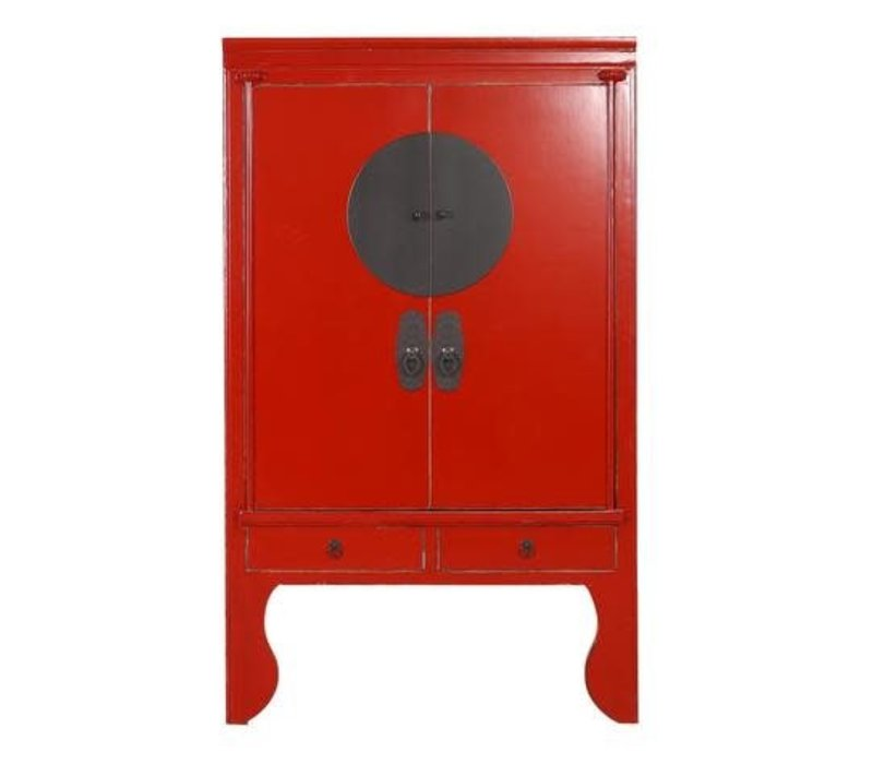 Armadio Nuziale Cinese Rosso L100xP55xA190cm