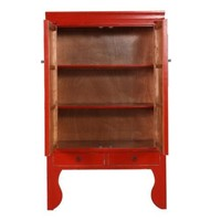 Armoire de Mariage Chinoise Antique Lucky Red L100xP55xH190cm