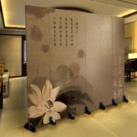 Room Divider Privacy Screen 6 Panel Chinese Flower W240xH180cm