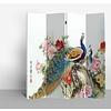 Fine Asianliving Chinesischer Raumteiler Trennwand B160xH180cm 4-teilig Pfauen