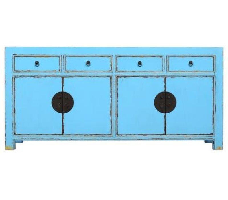Aparador Chino Antiguo Azul Cielo Anch.180 x Prof.40 x Alt.85 cm