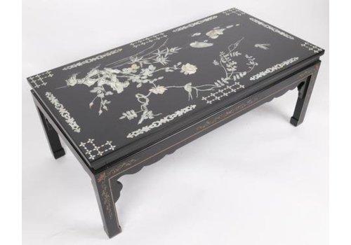 Fine Asianliving Tavolino Cinese con Intarsio di Perle e Dipinto a Mano