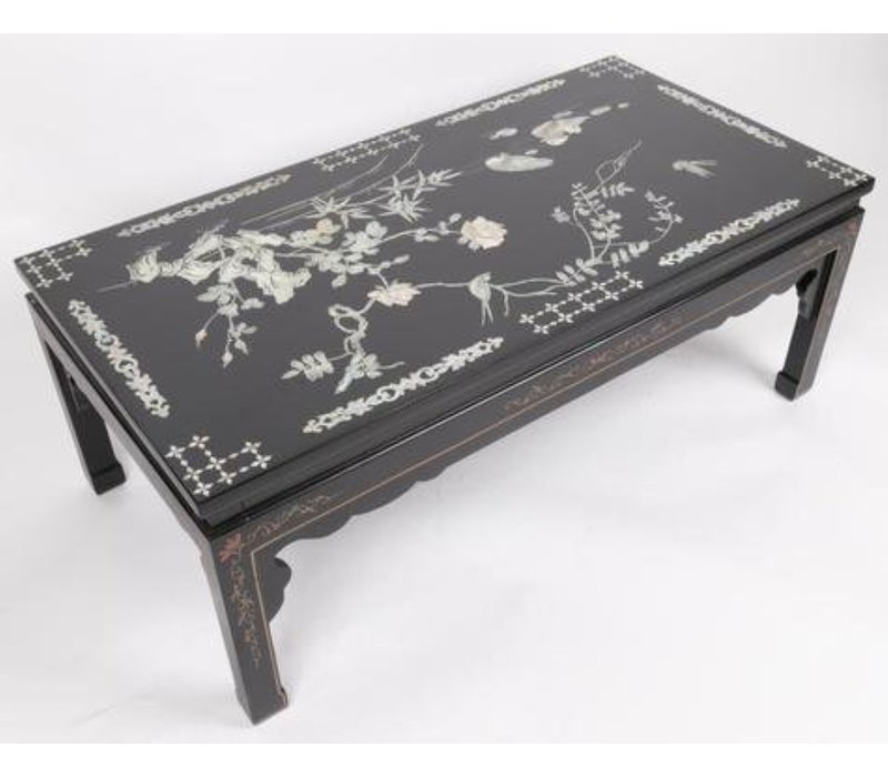 Chinese coffee table White real mother-of-pearl and hand paintings