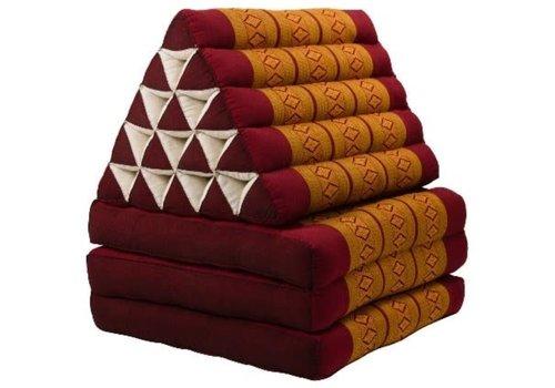 Fine Asianliving Coussin Thaï Triangulaire avec Matelas 3 Parties XL - 56x180cm - Orange Thaï
