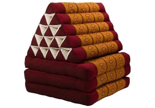 Fine Asianliving Cuscino Triangolare con Materasso Piegato in 3 XL Thai Arancione