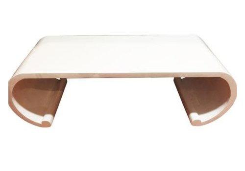 Fine Asianliving Tavolino Cinese in Legno Scorrimento Bianco