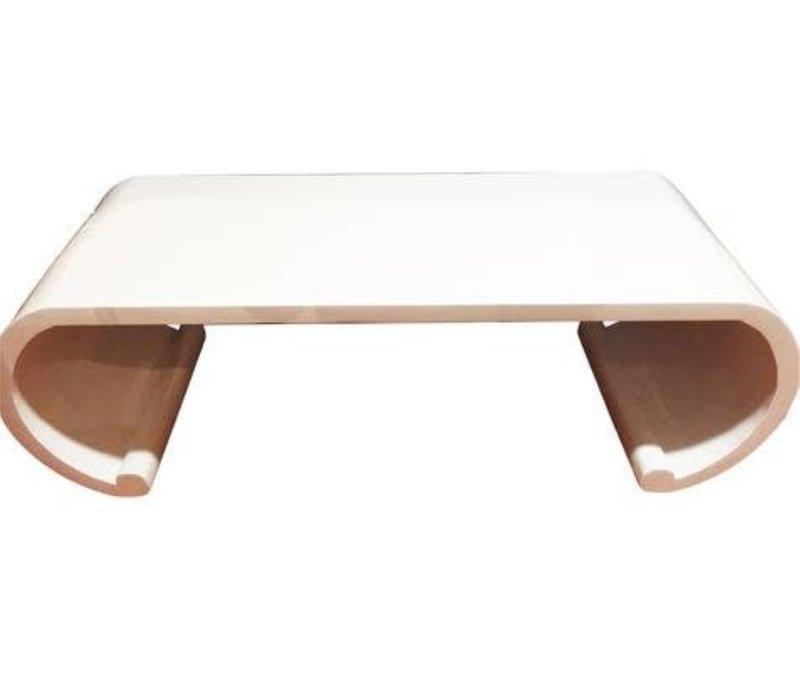 Tavolino Cinese in Legno Scorrimento Bianco