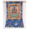 Fine Asianliving Antieke Tibetaanse Thangka Medicine Buddha Handgeschilderd en Geborduurd