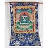 Fine Asianliving Antique Tibetan Thangka Samantabhadra White Consort Hand-painted and Embroidered