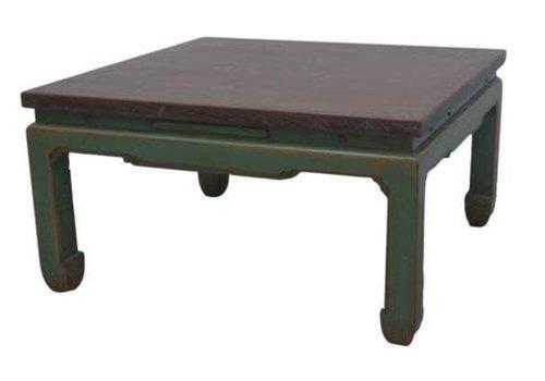 Fine Asianliving Tavolino Cinese in Legno Verde L84xP84xA45cm