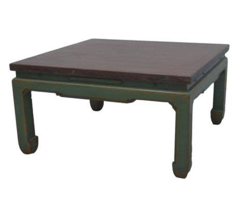 Chinesischer Couchtisch Grün B84xT84xH45cm
