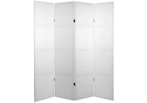 Fine Asianliving Raumteiler Trennwand B160xH180cm 4-teilig Weiß Blanko DIY