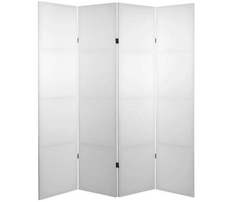 Kamerscherm Scheidingswand  4 Panelen Blanco Wit Do-It-Yourself L160xH180cm