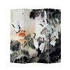 Fine Asianliving Chinees Kamerscherm Oosters Scheidingswand B160xH180cm 4 Panelen Kraanvogels Zonsopgang