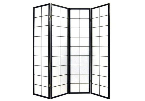 Fine Asianliving Paravent Japonais 4 panneaux L180xH180cm Shoji Papier de Riz 180 / B4