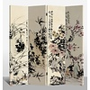 Fine Asianliving Room Divider Privacy Screen 4 Panels W160xH180cm Flowergarden