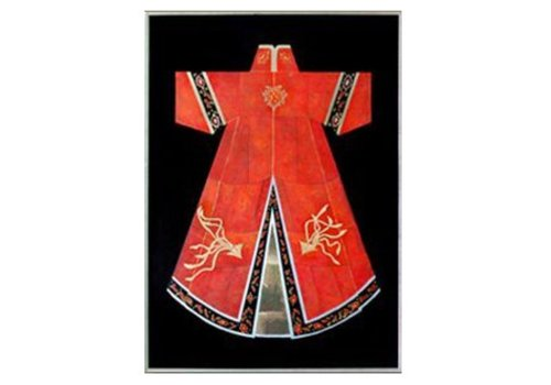 Fine Asianliving Oriental Painting Chinese Clothing Red