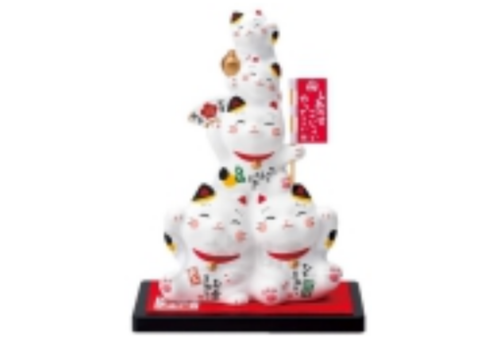 Fine Asianliving Lucky Cat Family Handmade from Japan