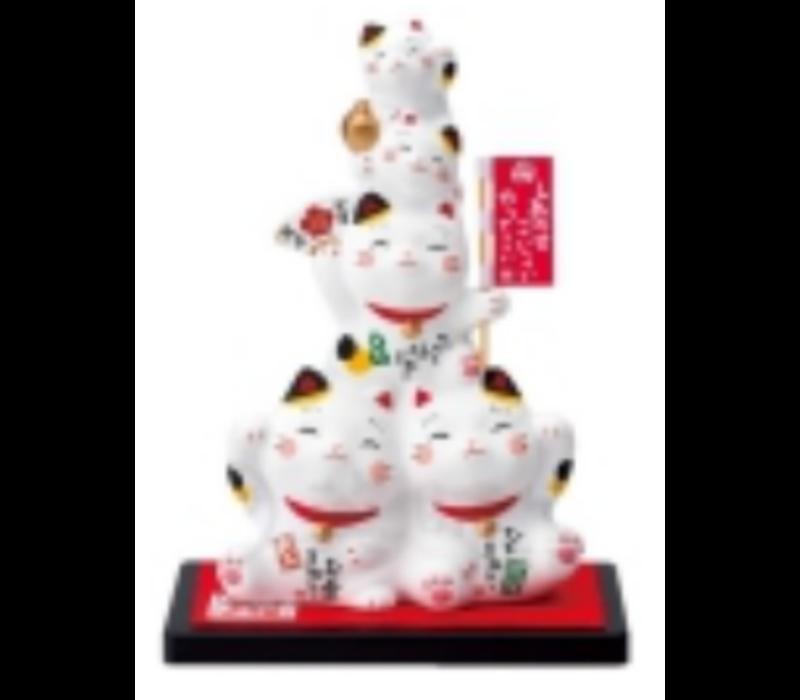 Chat Porte-Bonheur Famille Fait Main au Japon