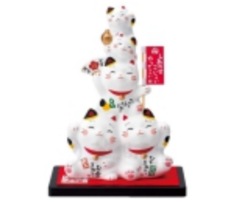Lucky Cat Family Handmade from Japan