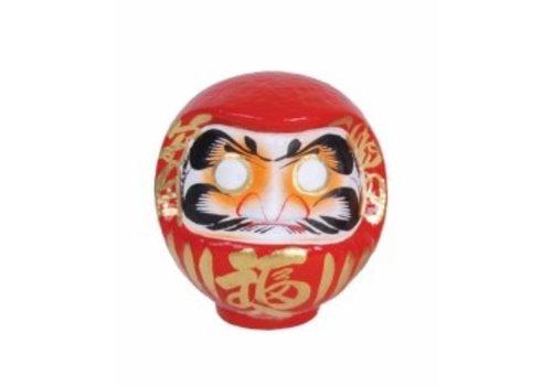 Fine Asianliving Daruma Japonais Rouge Fait Main 25cm
