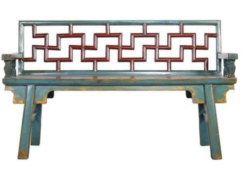 Fine Asianliving Chinese Bench Multicolour