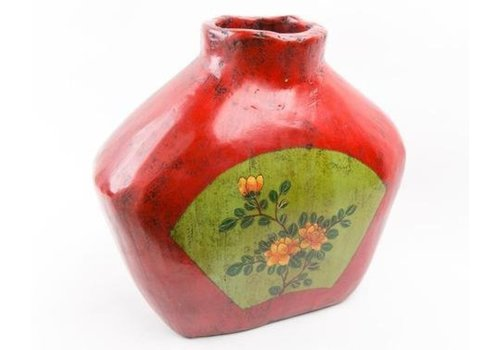 Fine Asianliving Chinese Vase Handpainted Antique Wood Small