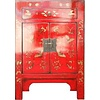 Fine Asianliving Armario Chino Mariposas Pintadas a Mano rojas Anch.58 x Prof.37 x Alt.85 cm