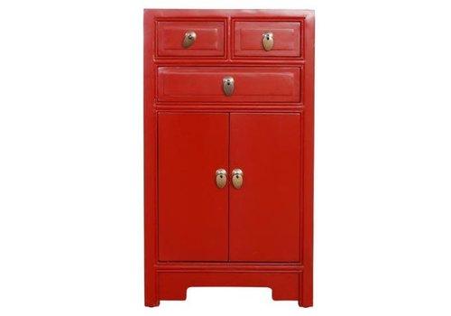 Fine Asianliving Table de Chevet Chinoise Rouge L44xP42xH77cm