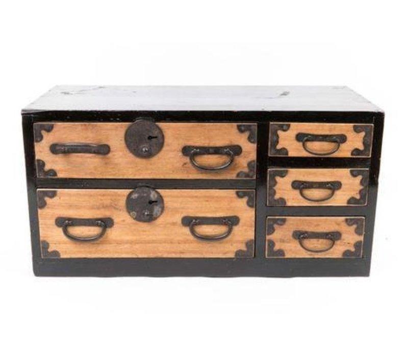Boîte de Rangement Japonais Antique Tansu