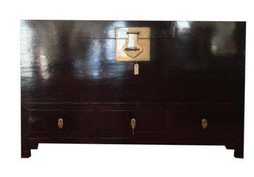 Fine Asianliving Caja Cofre de Almacenamiento Chino Antiguo Anch.153 x Prof.58 x Alt.93 cm