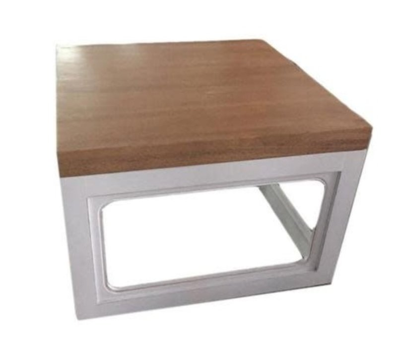 Chinese Salontafel Massief Hout Wit