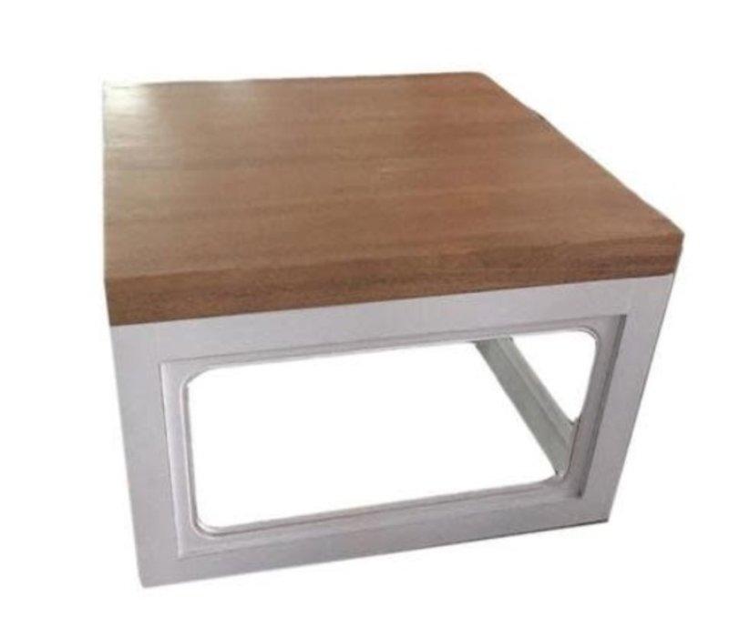 Tavolino Cinese Moderno in Legno L65xP65xA45cm