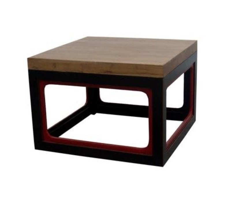 Chinese Salontafel Massief Hout Zwart