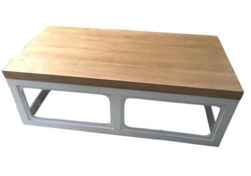 Fine Asianliving Table Basse Chinoise en Bois Blanc L130xP65xH45cm