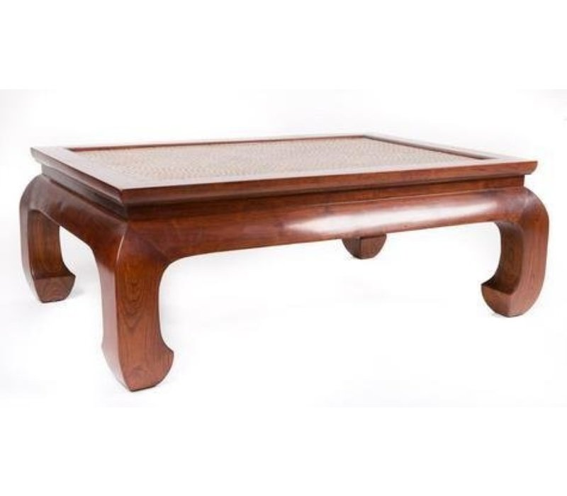 Chinese Coffee Table Handbraided Bamboo Brown WB140xD80xH46cm