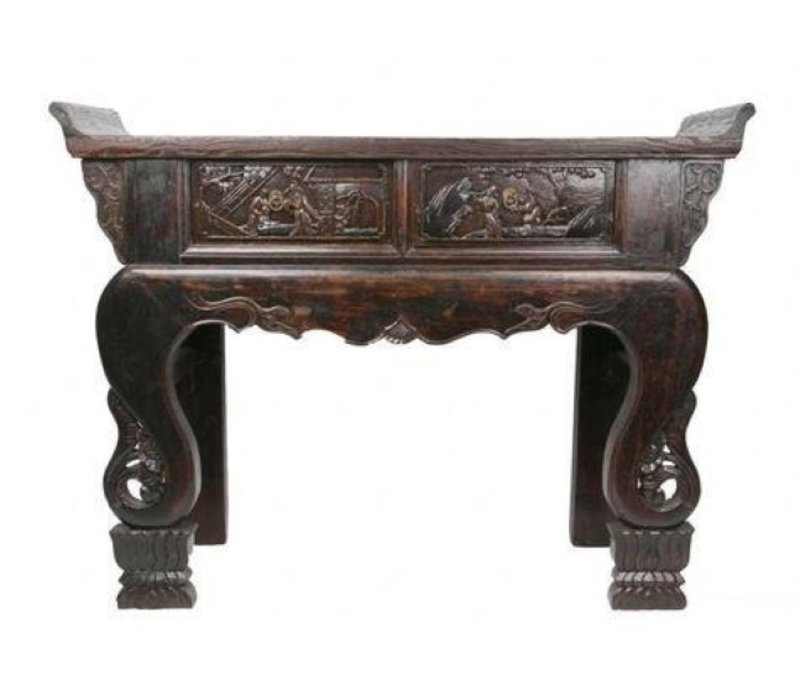 Table Console Antique Chinoise Handcrafted hardWood