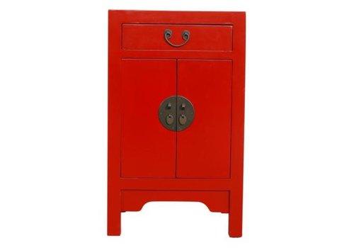 Fine Asianliving Mesita de Noche China Roja Suerte Anch.42 x Prof.35 x Alt.70 cm